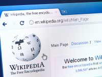 Izmir, Turkey - March 16, 2011: Close up of Wikipedia's main page on the web browser. Wikipedia is the biggest encyclopedia on the web.
